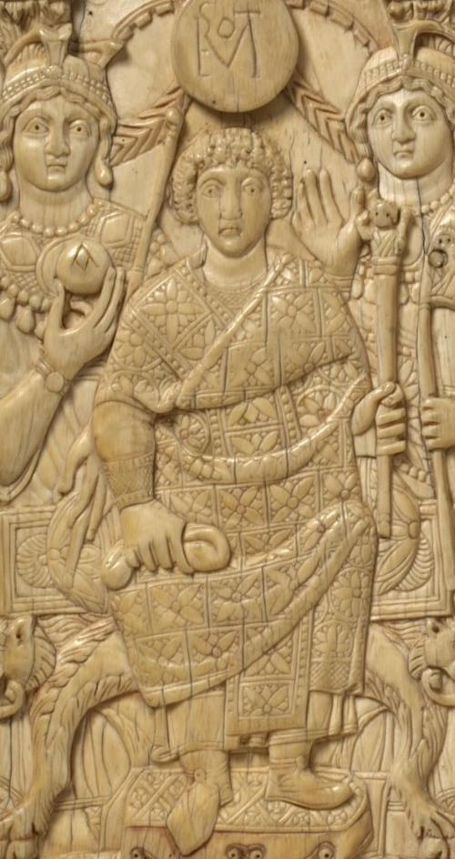 Diptych of Rufus Gennadius Probus Orestes, Ivory, ca. 530 CE ( Victoria and Albert Museum )