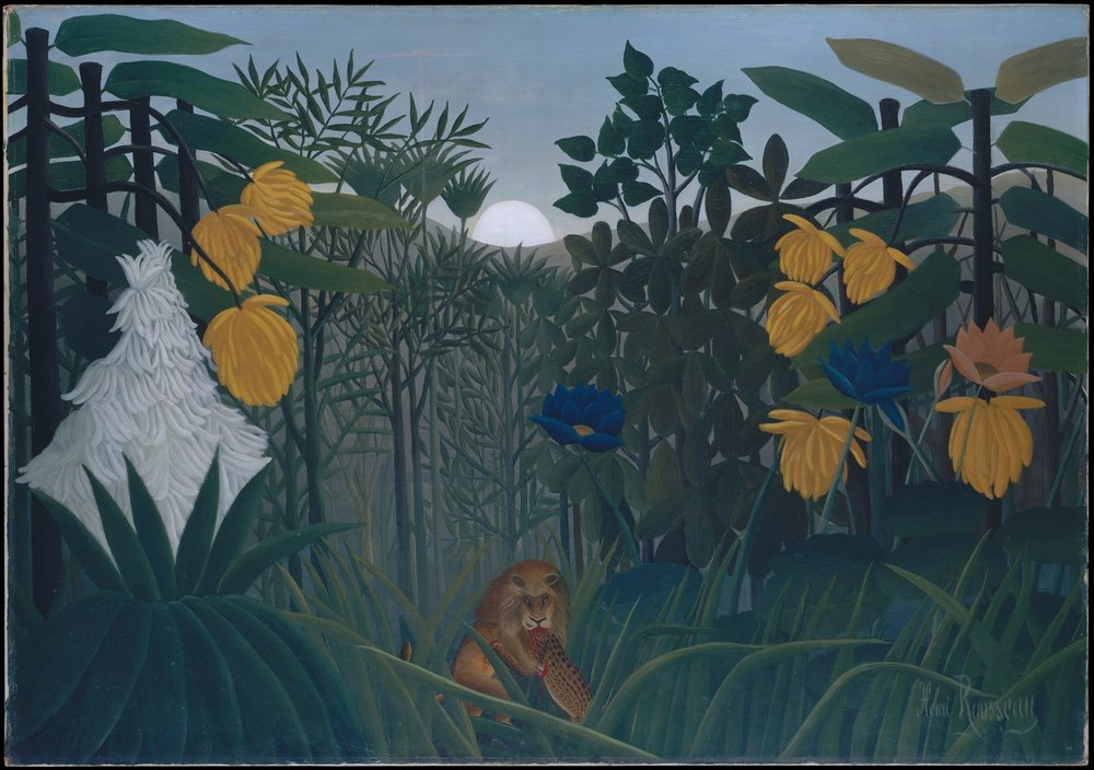"""Henri Rousseau, """"The Repast of the Lion"""" (ca. 1907)  MET Collection"""
