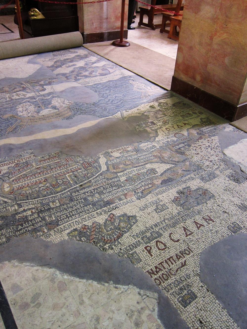 The sixth-century Madaba Map mosaic | The Church of St. George, Madaba (Jordan) |  Image Source