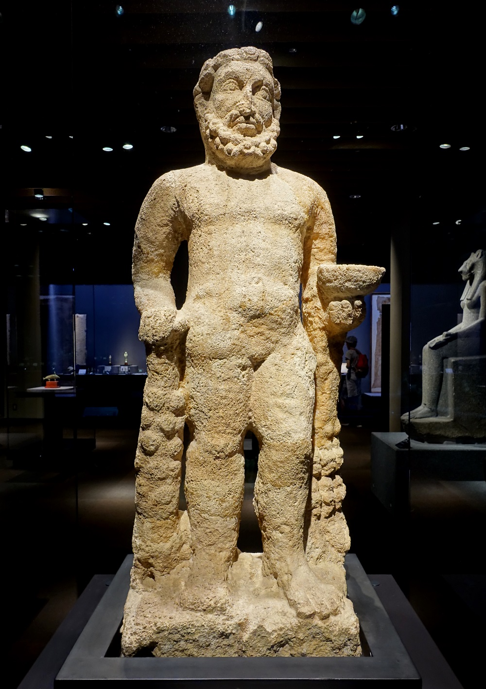 Limestone statue of Heracles | C1st-2nd CE, excavated at Hatra (Iraq), on display in Tokyo National Museum |  Image Source