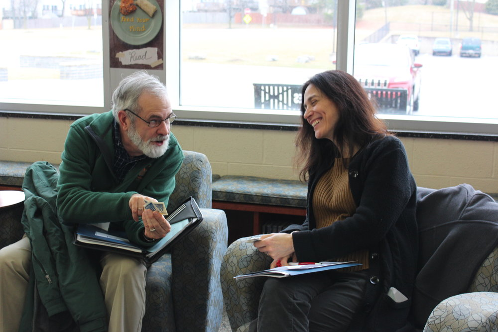 Bob Keddell and Class 10 Environmental Literacy Candidate Tatiana Klein