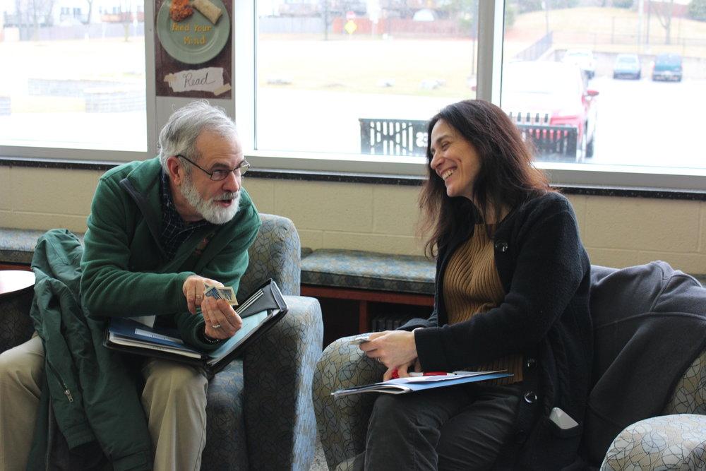 Bob Keddell and Class 10 Environmental Literacy Candidate Tatiana Klein