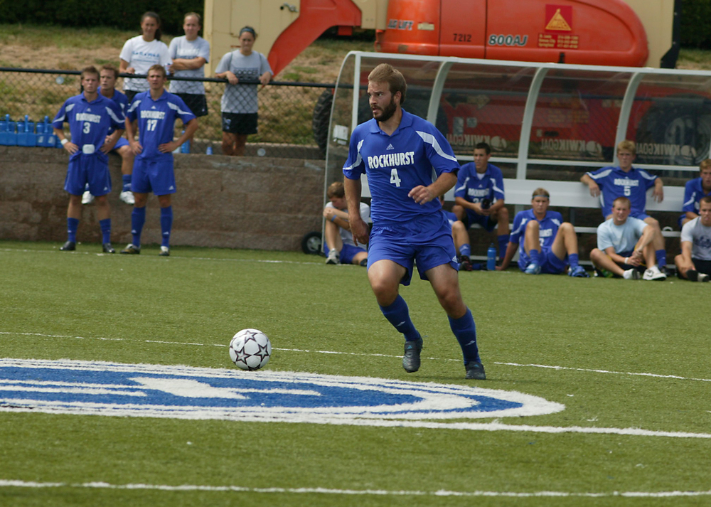 In college, prior to joining the Abbey, Fr. Simon Baker was a member of the Rockhurst soccer team while completing his bachelor's and master's degrees.