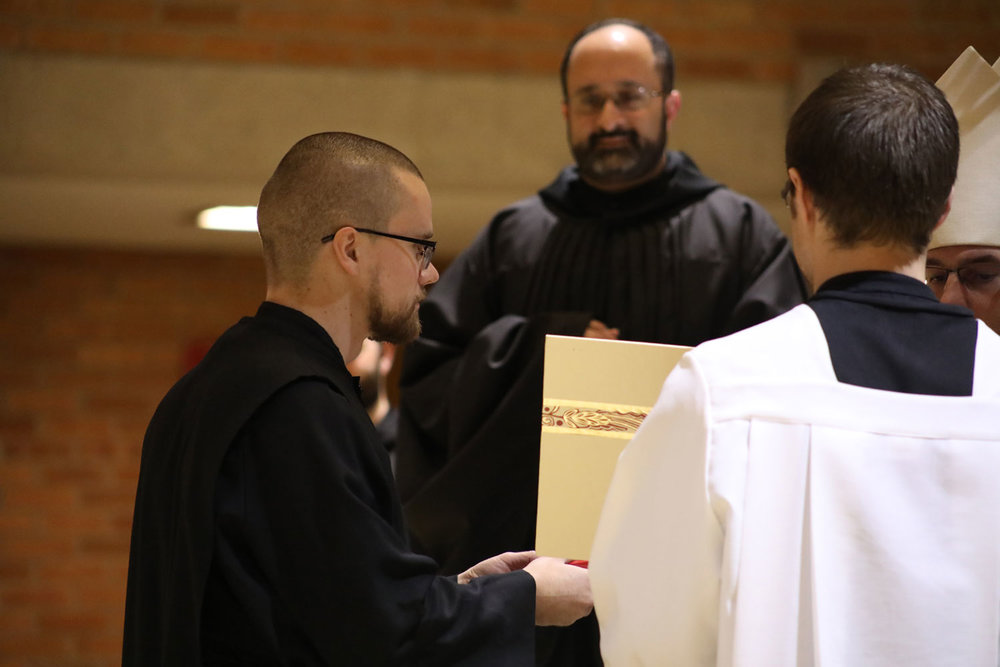 Charles Atkinson - now Br. Angelus - comes to the Abbey from Washington D.C.
