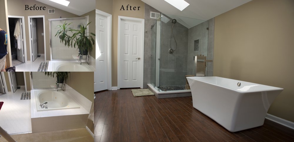 Before and after remodeling gallery euro design remodel Bathroom remodel maryland