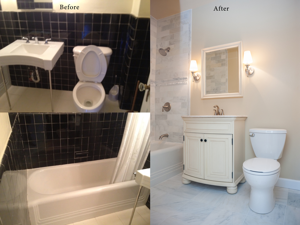 Dc Bathroom Remodel Before And After Remodeling Gallery — Euro Design Remodel .