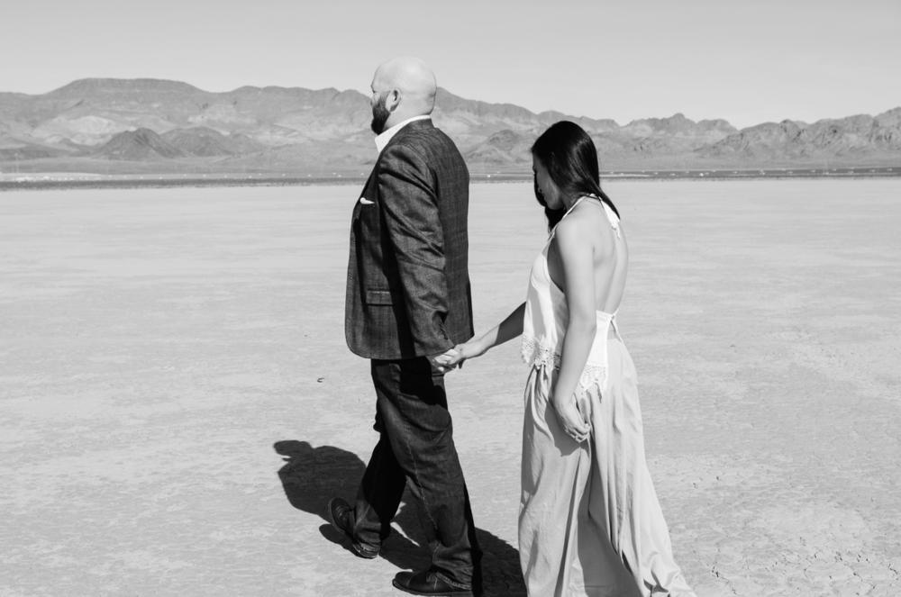 las vegas engagement photo shoot dry lake beds
