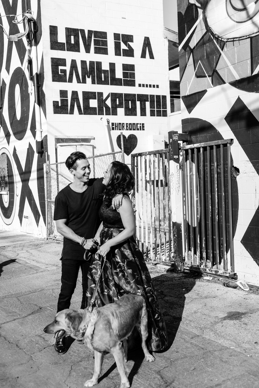 las vegas engagement, engagement session, desert engagement, rose gold engagement ring, ashley marie myers, black and white, desert, las vegas engagement session, las vegas photographer