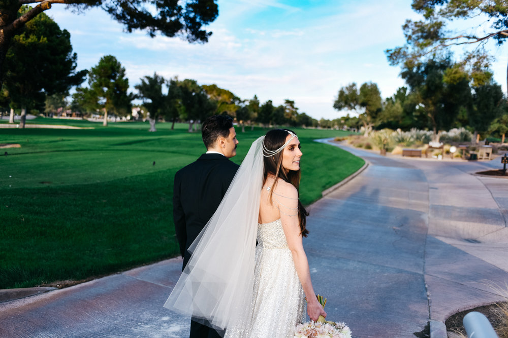 Fall wedding, Newlyweds, bride and groom, Las Vegas Country Club Wedding, Golf course wedding, Las Vegas Wedding, Lifestyle Photography, Sunset wedding, Fall wedding, Flora Pop Wedding,