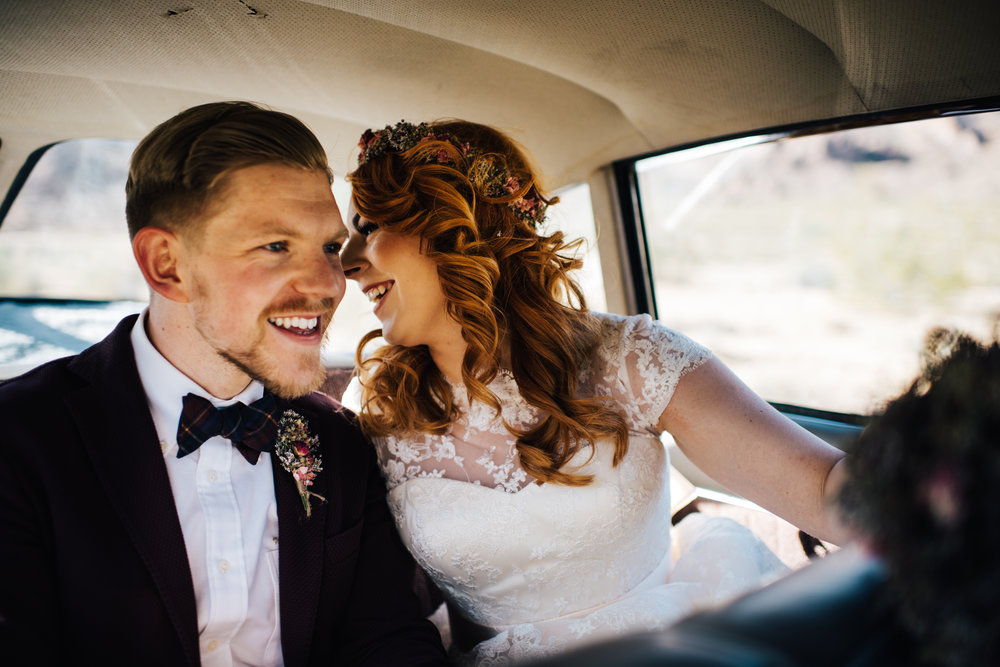 red head, ginger bride, vintage wedding, wedding las vegas, elopement las vegas, elopement, peachy keen union, red head bride, vintage bride, vintage car, tetra, yellow, desert wedding, summer wedding, las vegas, mojave desert, wedding inspiration, wed, i do, charming, las vegas elopement, elope, elopement photographer