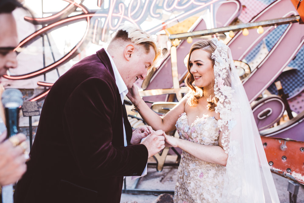 Neon Museum Elopement Elvis Elopement Las Vegas Photography by Ashley Marie-113.jpg