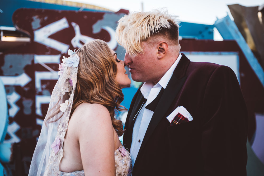 Neon Museum Elopement Elvis Elopement Las Vegas Photography by Ashley Marie-249.jpg