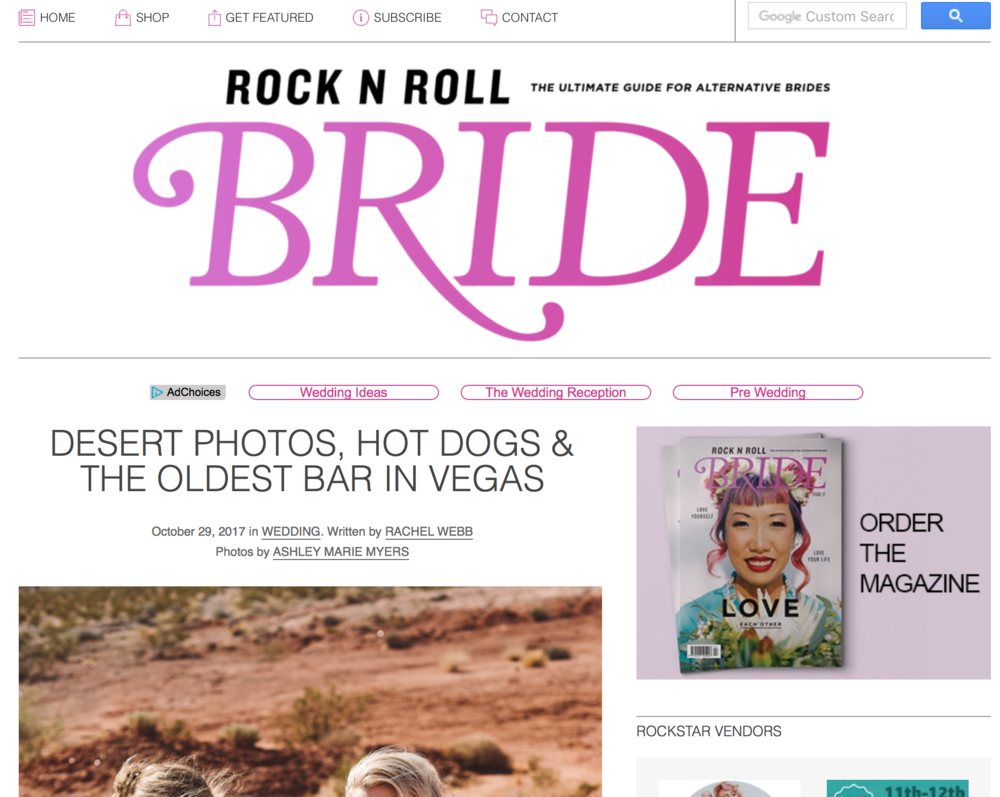 Click the photo to see the Rock'n Roll Bride Post on this Elopement!