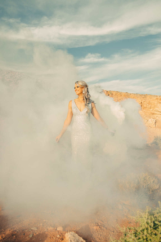Las Vegas Elopement Rock n Roll Bride elopement Smoke Bomb-207.jpg