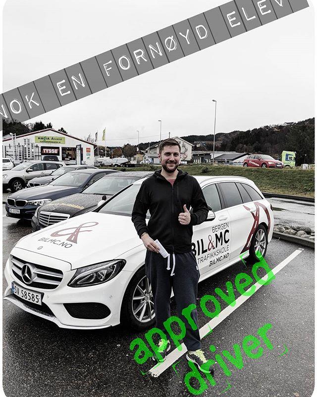 Vi gratulerer Morten med vel gjennomført oppkjøring! Bestått på første forsøk! #flestfornøydeelever #bilmc