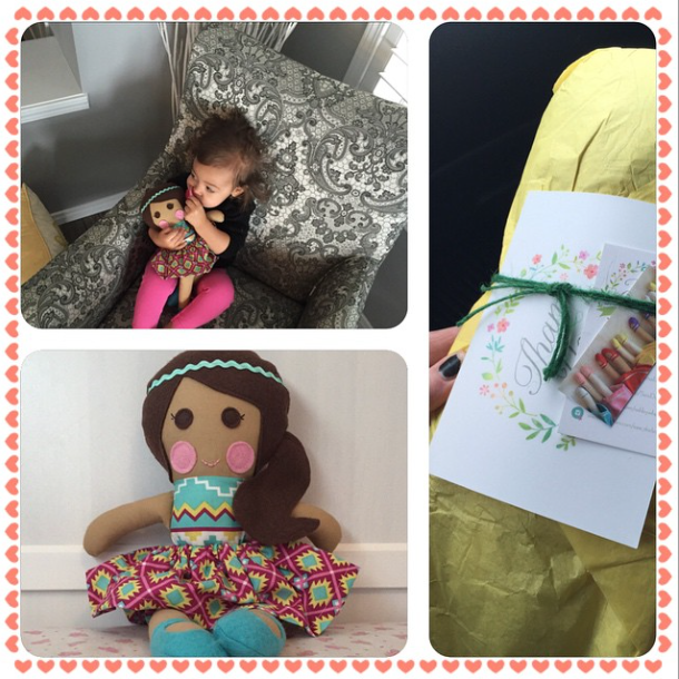 CLICK THE IMAGE TO SEE OUR LITTLE BABE LOVING HER NEW SEW DARLING DOLL!