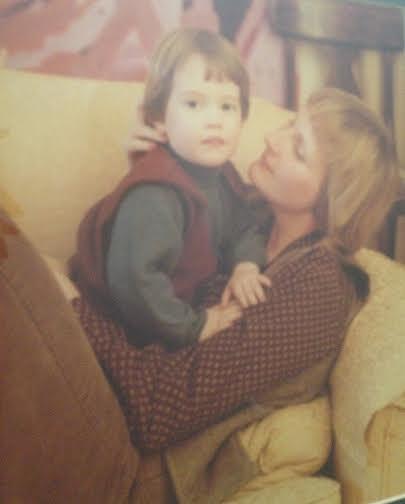 Cuddles with my Mum.