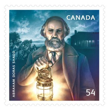 The A.D SHADD stamp that was released in Canada during Black History month.