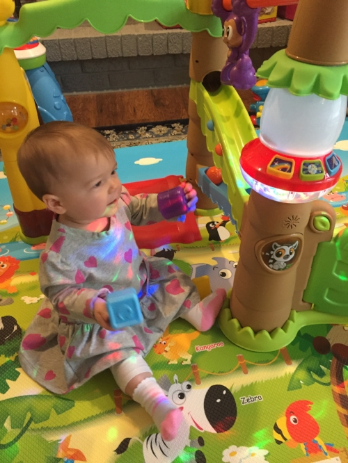we have 3 kids and theyve all enjoyed playing with it the music and lights are especially fun the songs are very upbeat and exciting for the little ones - Little Tikes Activity Garden Baby Playset