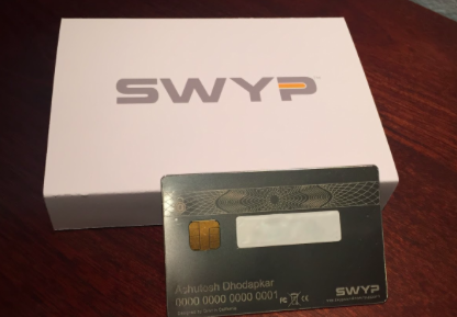 A personalized SWYP card