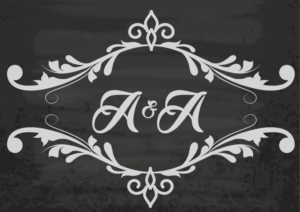 Ariel & Aliza, 2016 - Wedding Monogram