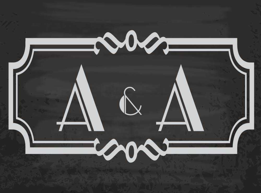 Ari & Avidan, 2018 - Wedding Monogram