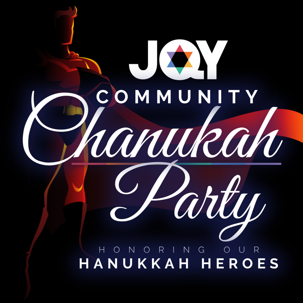 Chanukah Party - Social Media Event Post, Jewish Queer Youth