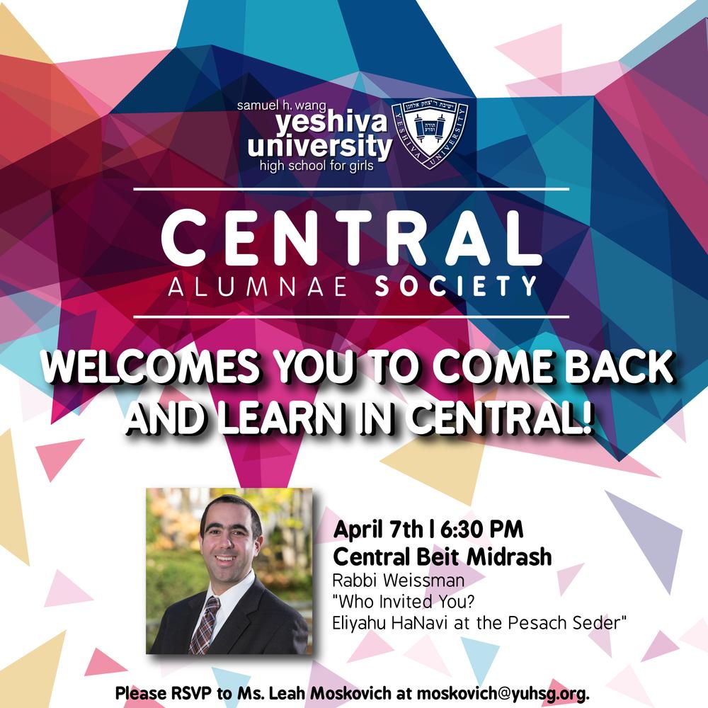 Central Alumnae Society - Social Media Post, Yeshiva University High School for Girls
