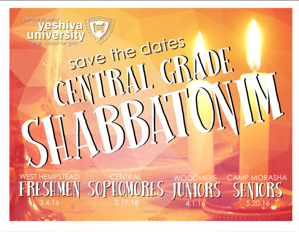 Save The Dates - Postcard, Yeshiva University High School for Girls