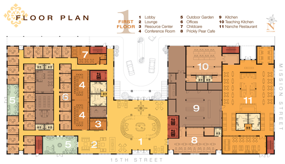 Teaching Kitchen Floor Plan casa aldea — ann lee design