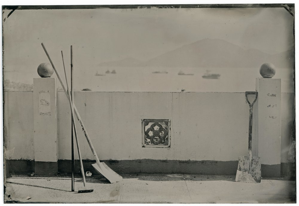 Tin Hau Temple. Cheung Chau, Hong Kong 2016. Digital scan from original 5x7 tintype