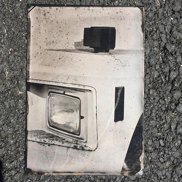 Truck (detail). Rockport, Maine 2018 5x7 #wetplate #collodion #tintype