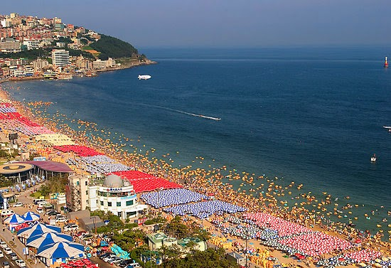 My friend Jay didn't have many great things to say about the beach there, only that it was extremely overcrowded especially in the summer (as you can see in the photo below). [Photo fromWorld Tourist Attraction.]