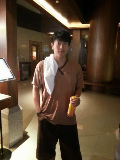 Jon modeling SpaLand's uniform