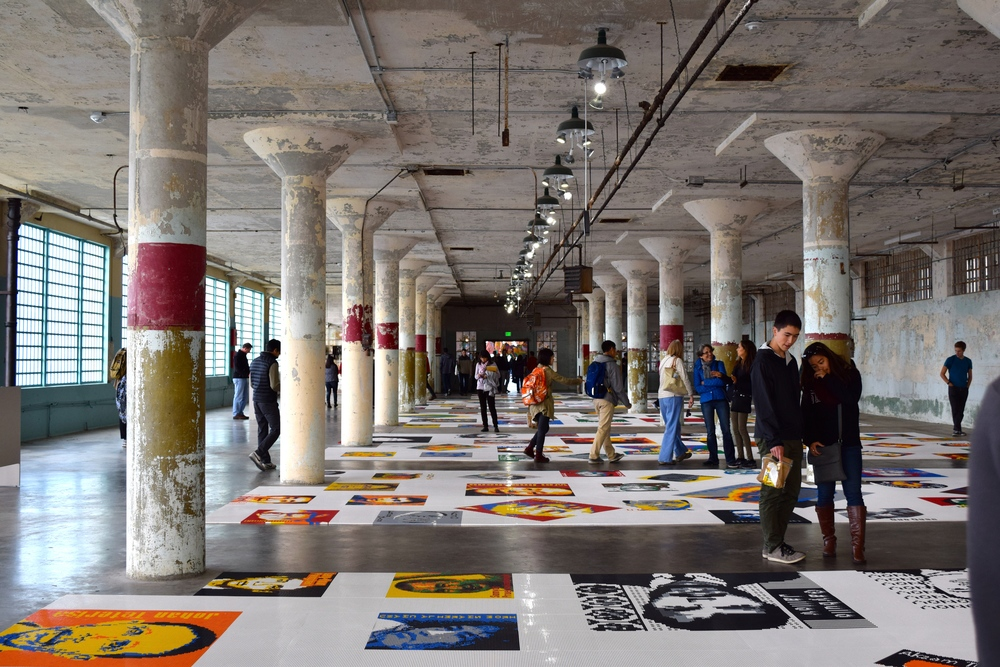 Piece called Trace showing portraits of people imprisoned – all made out of LEGOs