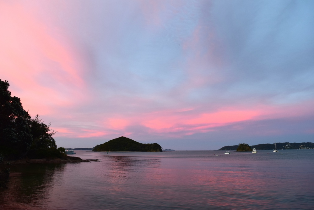 saw the most beautiful sunset in Paihia