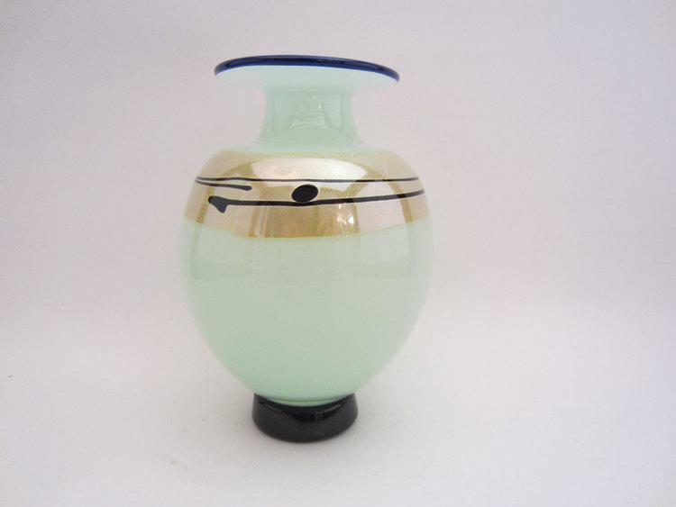 Hand Blown Glass Vase Three Wheel Studio