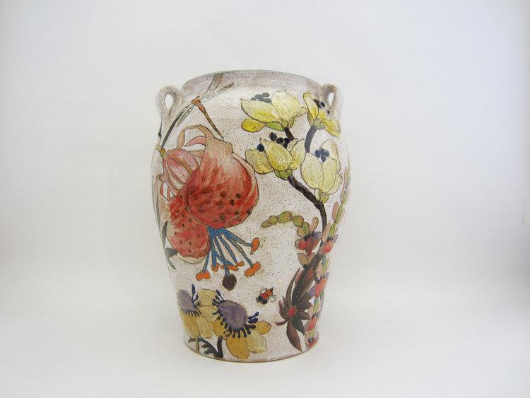 Large Vase Flowers Pigment Three Wheel Studio
