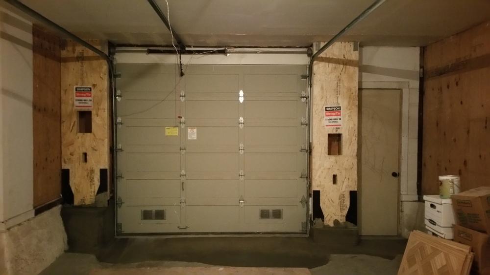 Simpson Strong Wall garage opening reinforcement