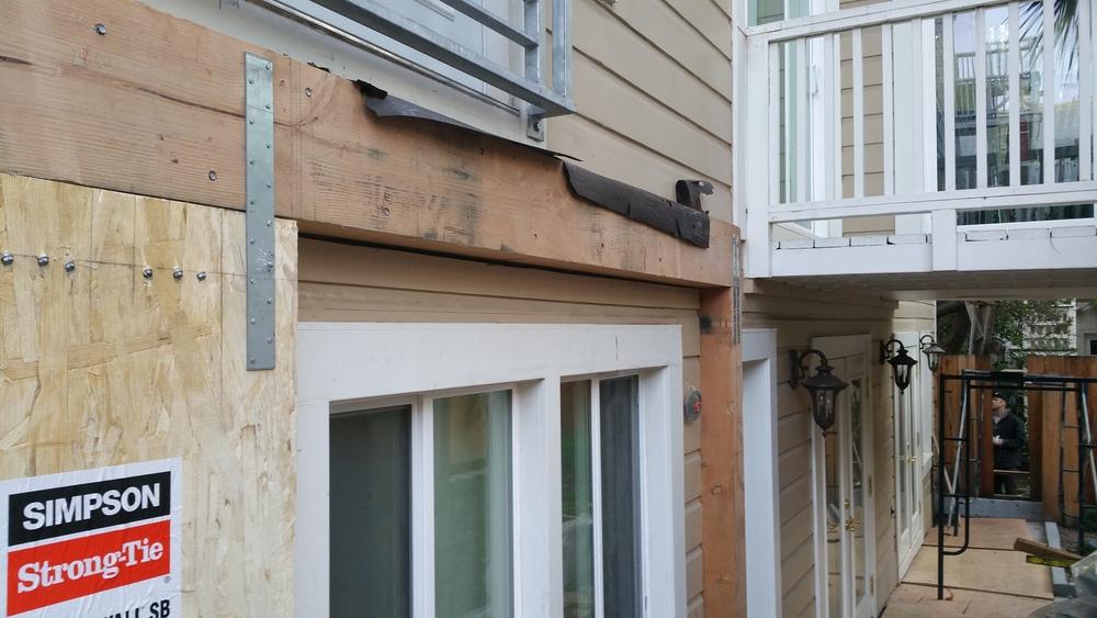 First Exterior Simpson Strong wall Reinforcement