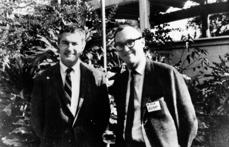 Dr. Timothy Leary and his partner-in-crime at Harvard, Dr. Richard Alpert (Dying to Know)