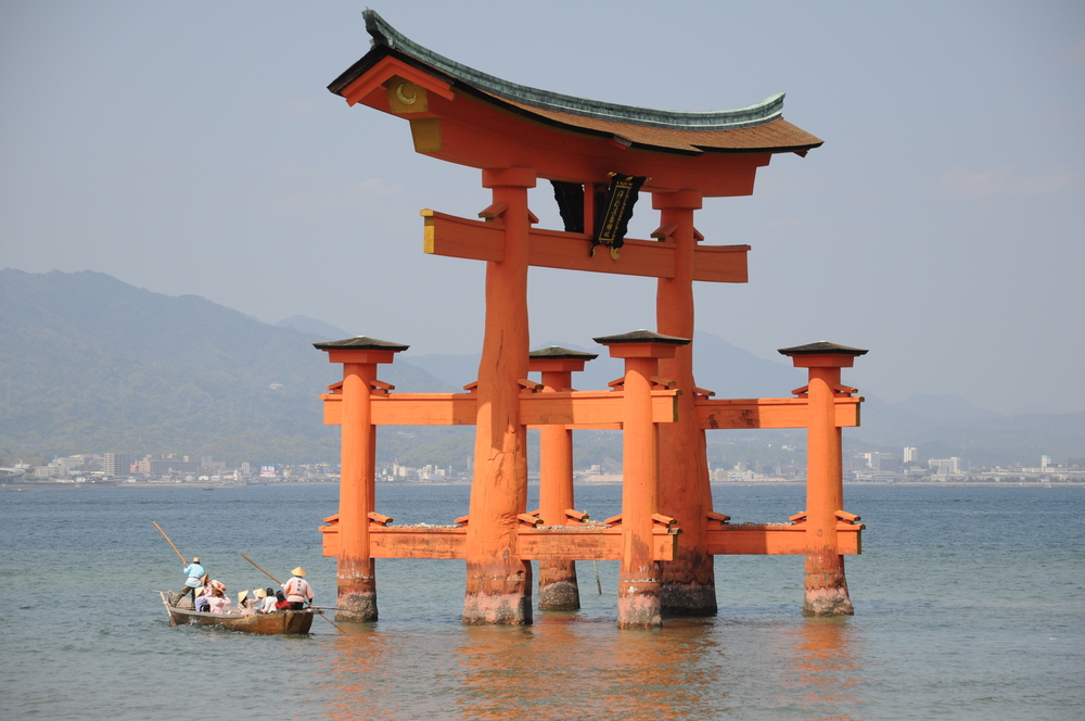 The Torri de Miyajima served as inspiration for Torii in Epcot at the Walt Disney World Resort.
