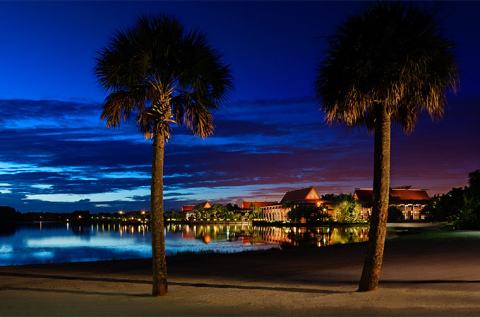 Disney's Polynesian Village Resort in May