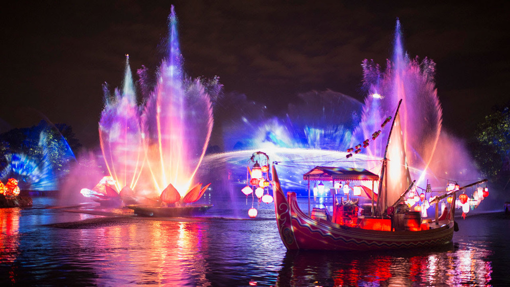 Photo of an actual rehearsal of Rivers of Light at Disney's Animal Kingdom Theme Park