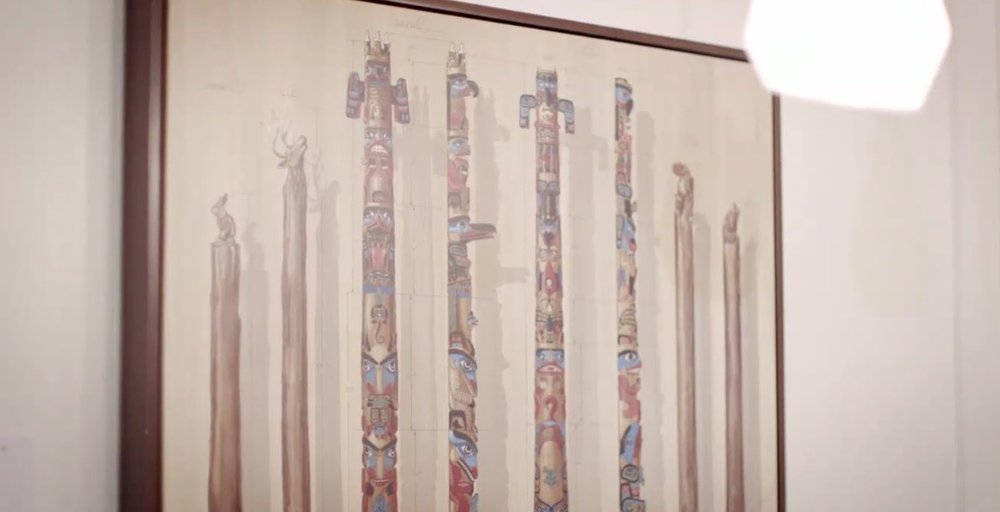 Artwork is based on the totems found in the lobby of Wilderness Lodge.