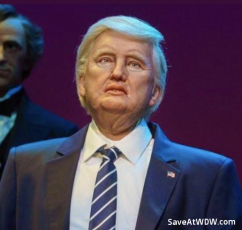 Donald Trump Audio-Animatronic figure at Hall of Presidents - Walt Disney World Resort.