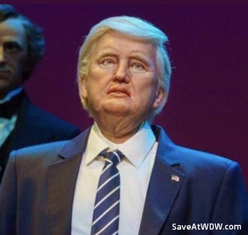 Donald Trump Audio-Animatronic figure at Hall of Presidents - Walt Disney World Resort.