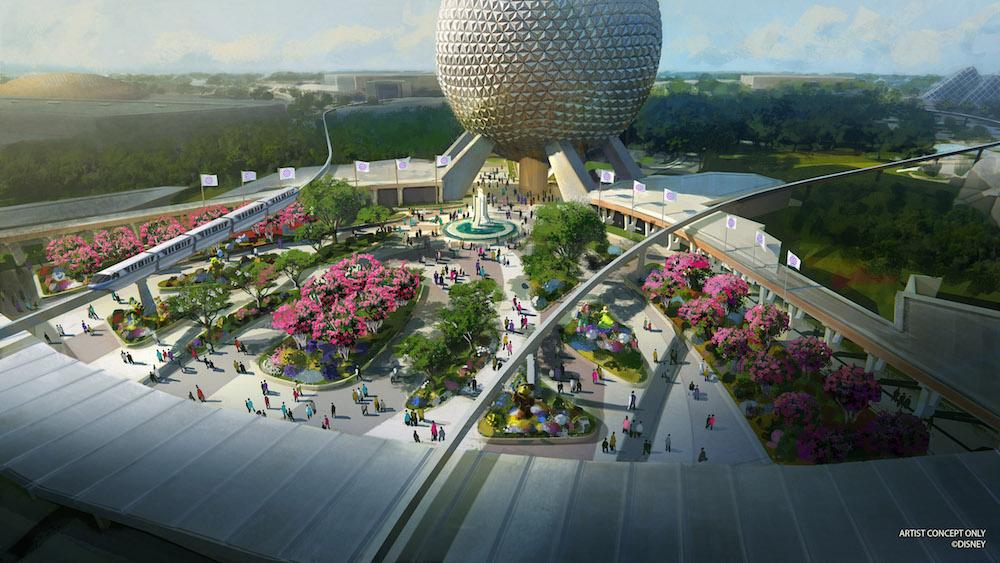 Conceptual plans for a new Epcot entrance.