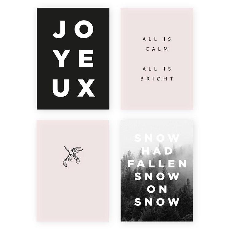 the minimalist christmas 40 card set ever after press
