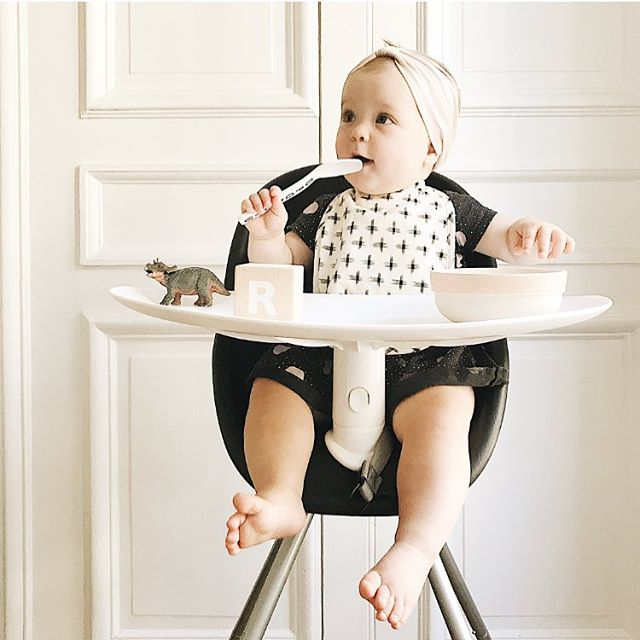 8.5 months of Baby RoRo 💕 She's a big fan of the new @philandteds Poppy highchair.